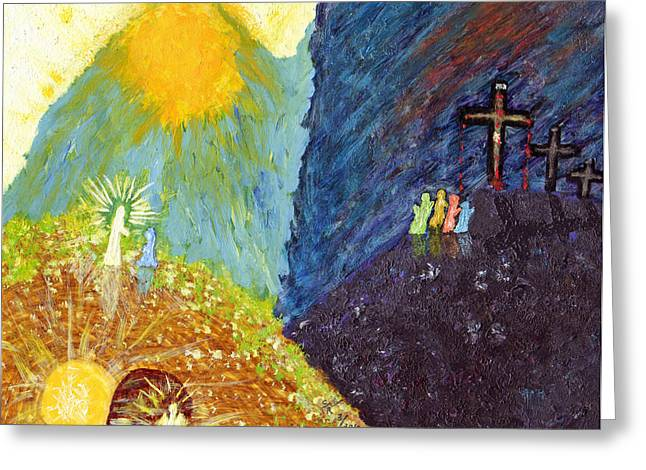 Thank God For Good Friday And Easter Sunday Greeting Card by Carl Deaville