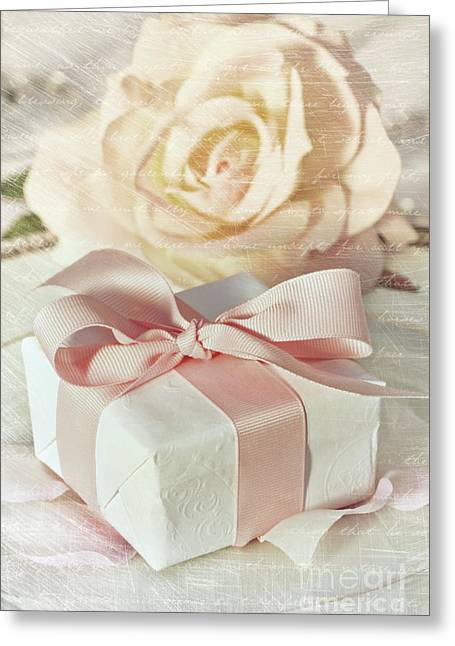 Occasion Greeting Cards - Thank you gift at wedding reception Greeting Card by Sandra Cunningham