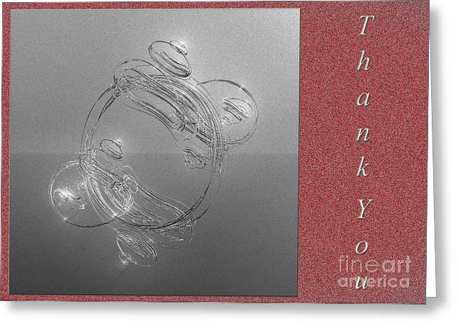 Fractal Greeting Cards Greeting Cards - Thank You Greeting Card Greeting Card by Andee Design
