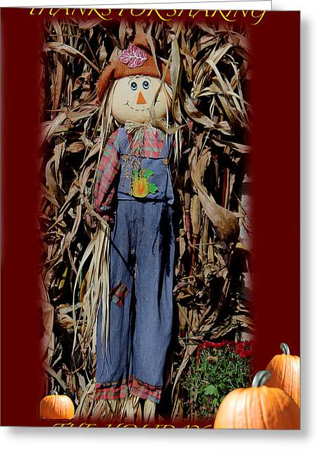Sharing Mixed Media Greeting Cards - Thanks For Sharing  Card Greeting Card by Debra     Vatalaro