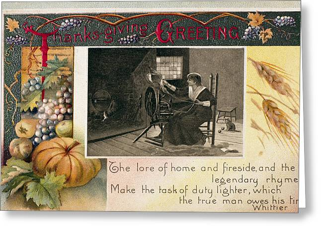 Thanksgiving Card, 1909 Greeting Card by Granger