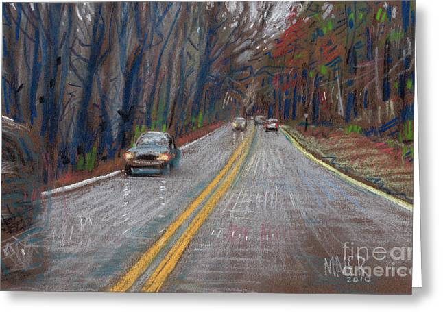 Driving Pastels Greeting Cards - Thanksgiving Drive Greeting Card by Donald Maier