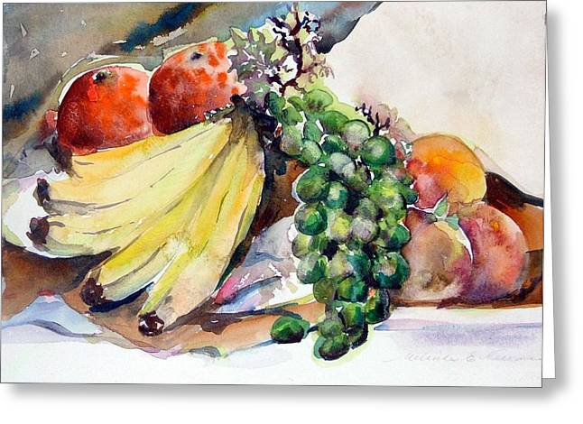 Thanksgiving Greeting Card by Mindy Newman