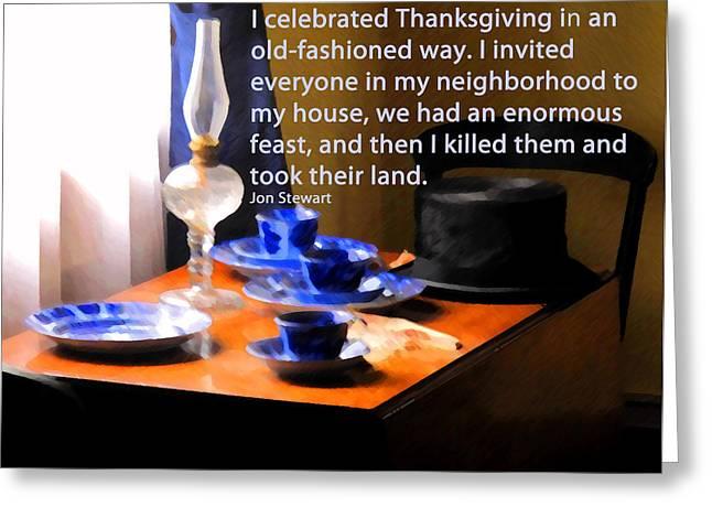 Thanksgiving Murders Greeting Card by Ian  MacDonald