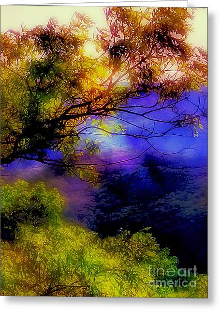 Outlook Greeting Cards - That Mountain Light Greeting Card by Judi Bagwell