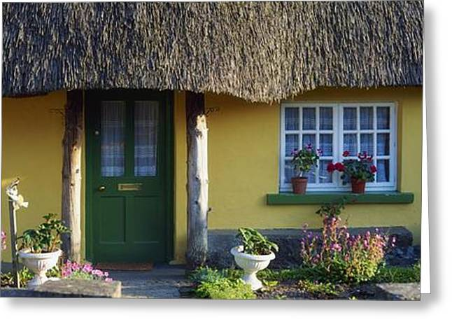 Wooden Building Greeting Cards - Thatched Cottage, Adare, Co Limerick Greeting Card by The Irish Image Collection