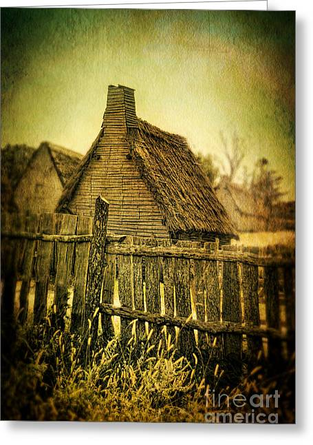 Rood Greeting Cards - Thatched Cottages Greeting Card by Jill Battaglia