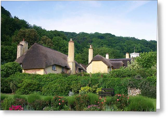 Selworthy Greeting Cards - Thatched rooftops Greeting Card by Ed Lukas