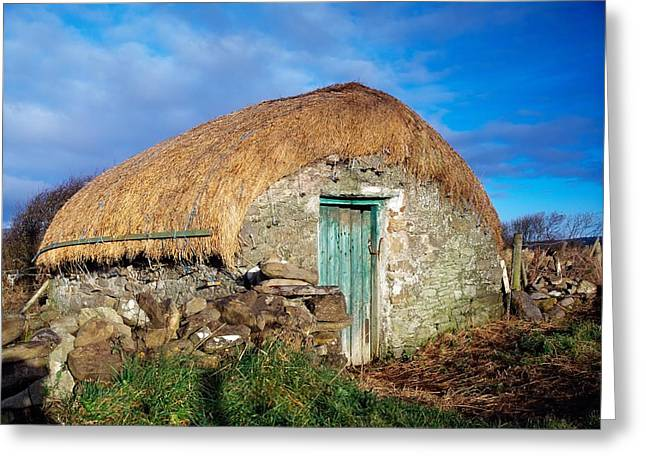 Thatched Shed, St Johns Point, Co Greeting Card by The Irish Image Collection