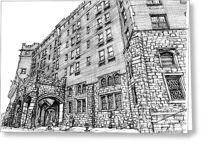 Wedding Gift Ideas Greeting Cards - Thayer Hotel in upstate NY Greeting Card by Building  Art