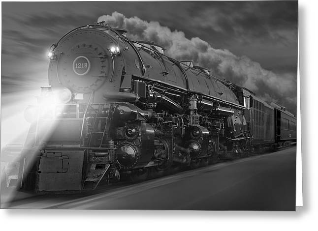 Railroad Tracks Greeting Cards - The 1218 On the Move Greeting Card by Mike McGlothlen