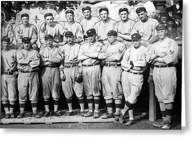 Famous Athletes Greeting Cards - The 1911 New York Giants Baseball Team Greeting Card by International  Images