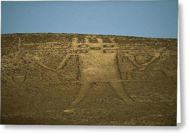American Architecture And Art Greeting Cards - The 282-foot-tall El Gigante Geoglyph Greeting Card by Joel Sartore