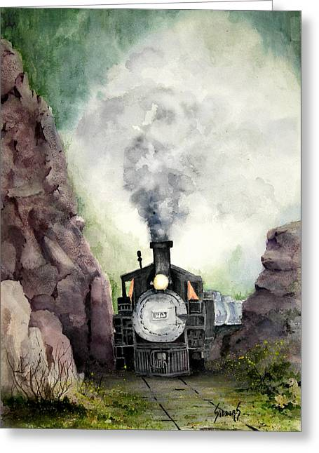 Narrow Gauge Steam Engine Greeting Cards - The 413 Greeting Card by Sam Sidders