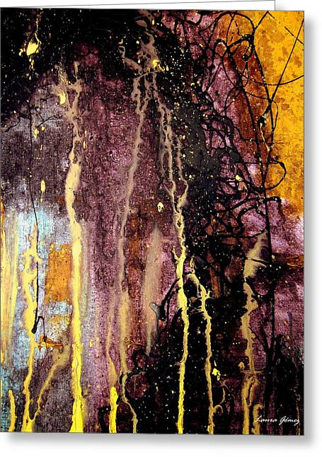 Night Cafe Drawings Greeting Cards - The Abstract Galaxy by Laura Gomez Greeting Card by Laura  Gomez