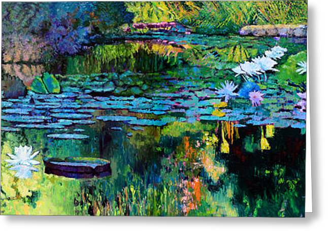 Best Sellers -  - Reflection In Water Greeting Cards - The Abstraction of Beauty one and two Greeting Card by John Lautermilch