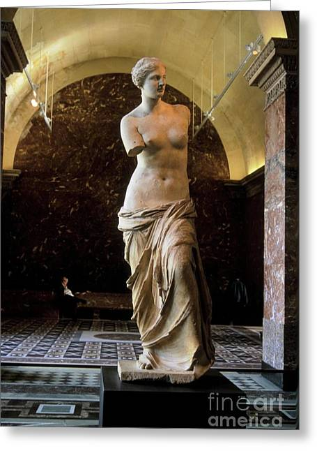Greek Sculpture Greeting Cards - The Admirer Greeting Card by Chris  Brewington Photography LLC