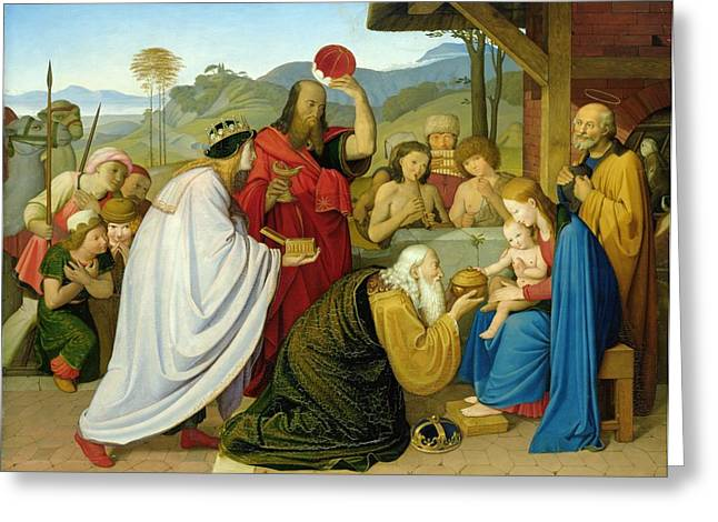 Magi Greeting Cards - The Adoration of the Kings Greeting Card by Bridgeman