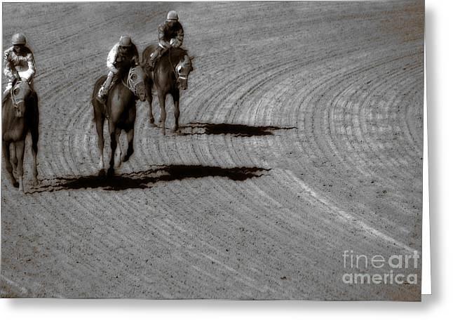 Horseback Riding Digital Art Greeting Cards - The After Burn  Greeting Card by Steven  Digman