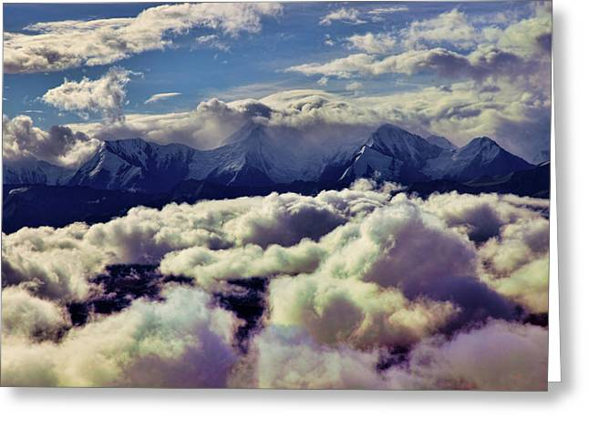 Denali Greeting Cards - The Alaska Range Greeting Card by Rick Berk