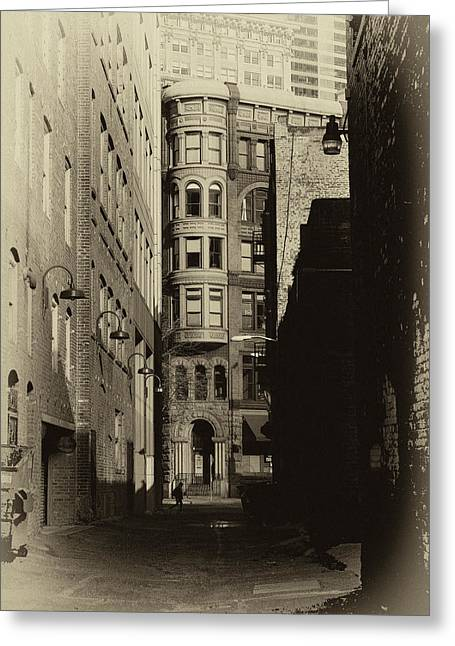 Pioneer Square Seattle Greeting Cards - The Alleyway Greeting Card by David Patterson