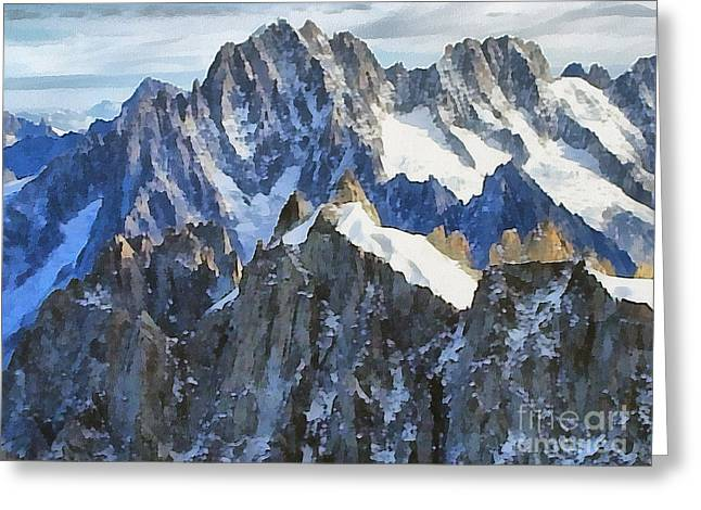 Sweating Paintings Greeting Cards - The Alps Greeting Card by Odon Czintos