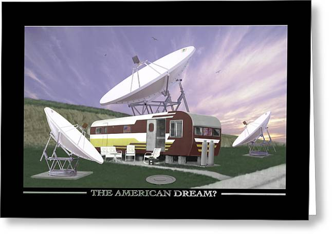 Mobile Greeting Cards - The American Dream Greeting Card by Mike McGlothlen