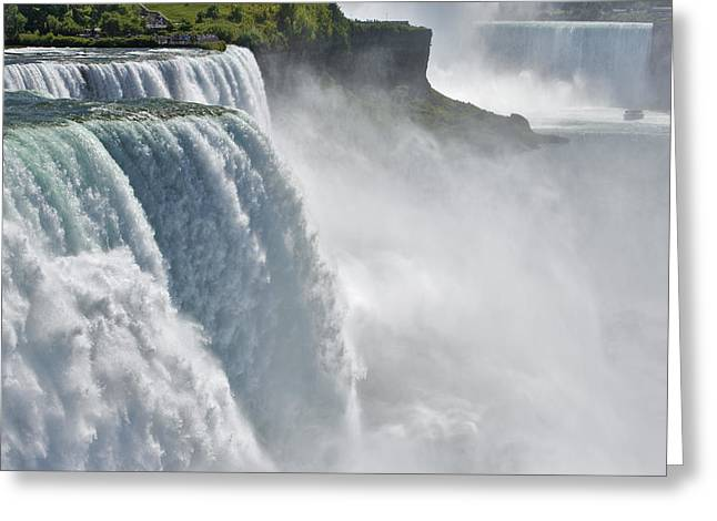 Prospect Place Greeting Cards - The American Falls From Prospect Point Greeting Card by Darwin Wiggett