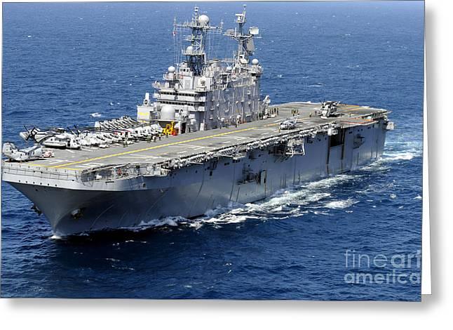 The Amphibious Assault Ship Uss Peleliu Greeting Card by Stocktrek Images