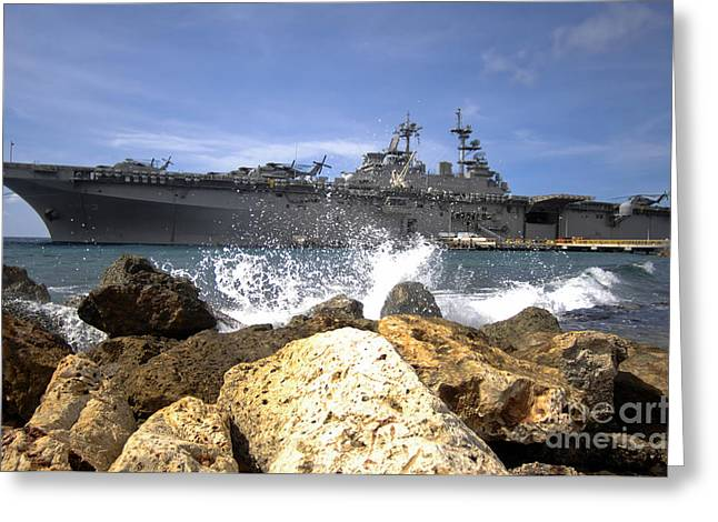 Continuing Greeting Cards - The Amphibious Assault Ship Uss Greeting Card by Stocktrek Images