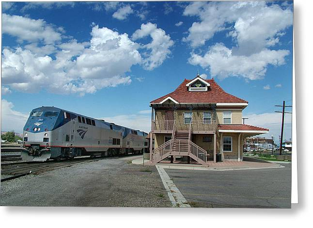 Diesel Locomotives Greeting Cards - The Amtrak California Zephyr Greeting Card by Ken Smith