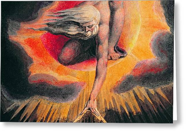 The Ancient of Days Greeting Card by William Blake