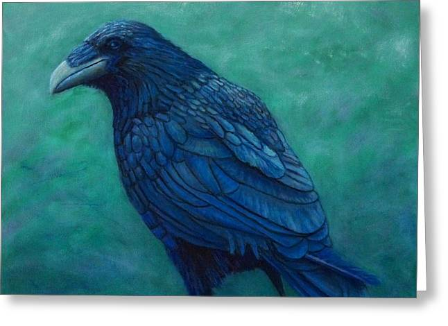 Ravens Greeting Cards - The Ancient One Greeting Card by Brian  Commerford