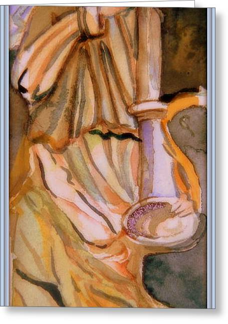 Bible Mixed Media Greeting Cards - The Angel Greeting Card by Mindy Newman