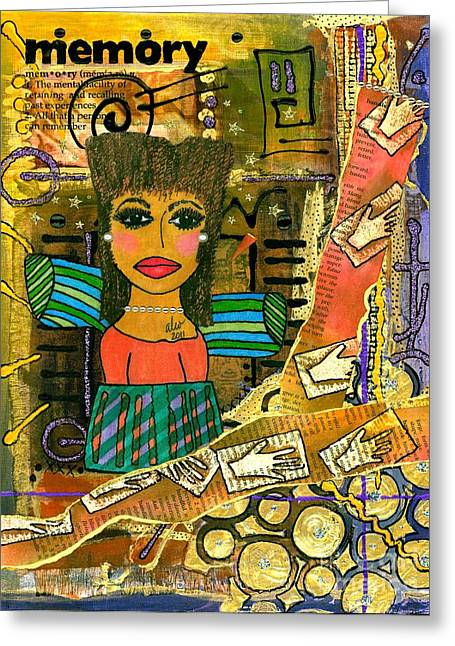 Survivor Art Greeting Cards - The Angel of Fond Memories Greeting Card by Angela L Walker