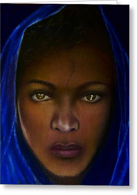 African-american Pastels Greeting Cards - The Angel of Integrity Greeting Card by D Rogale