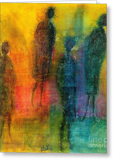 Survivor Art Greeting Cards - The Angels Among Us Greeting Card by Angela L Walker