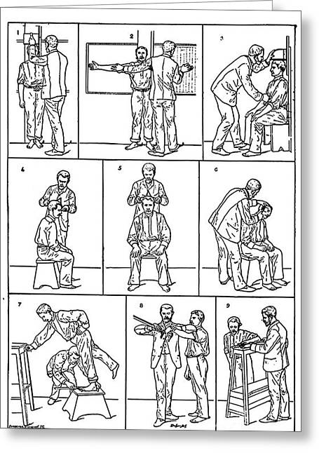 Law Enforcement Art Photographs Greeting Cards - The Anthropometrical Signalment, 1896 Greeting Card by Science Source