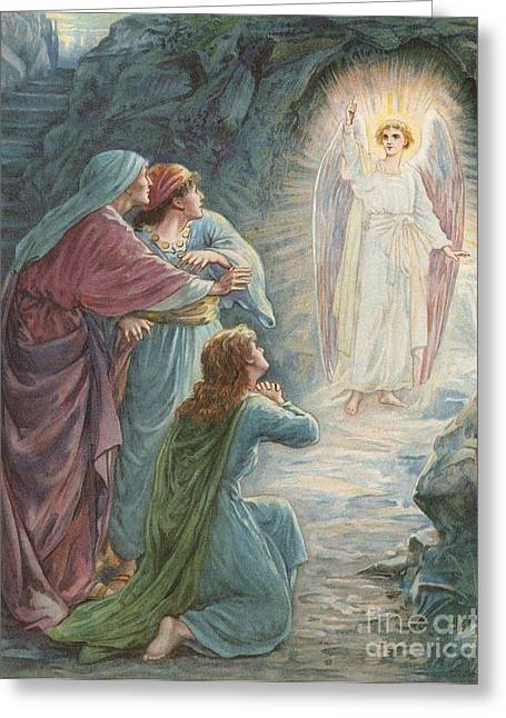 Tome Greeting Cards - The appearance of the Angel Greeting Card by Ambrose Dudley
