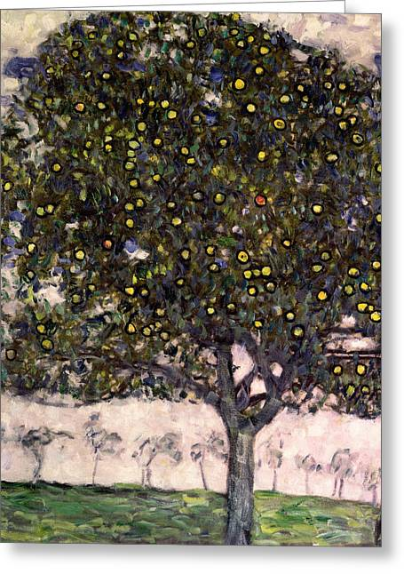 The Trees Greeting Cards - The Apple Tree II Greeting Card by Gustav Klimt