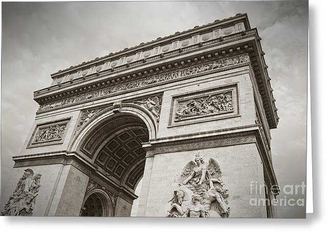 Champs Greeting Cards - The Arc de Triumph in Paris Greeting Card by Giancarlo Liguori
