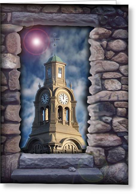 Inner Mixed Media Greeting Cards - The Architect of Doors Greeting Card by Jon D Gemma