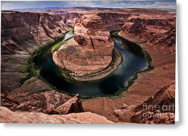 Ryan Kelly Greeting Cards - The Arizona Horsehoe Bend of Colorado River Greeting Card by Ryan Kelly