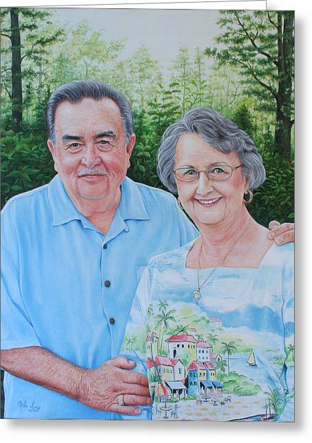 Mike Ivey Greeting Cards - The Armstrongs Greeting Card by Mike Ivey