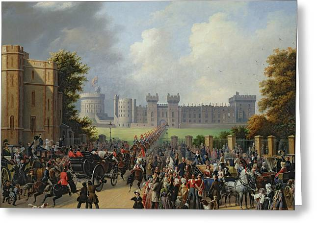 Processions Greeting Cards - The Arrival of Louis-Philippe Greeting Card by Edouard Pingret
