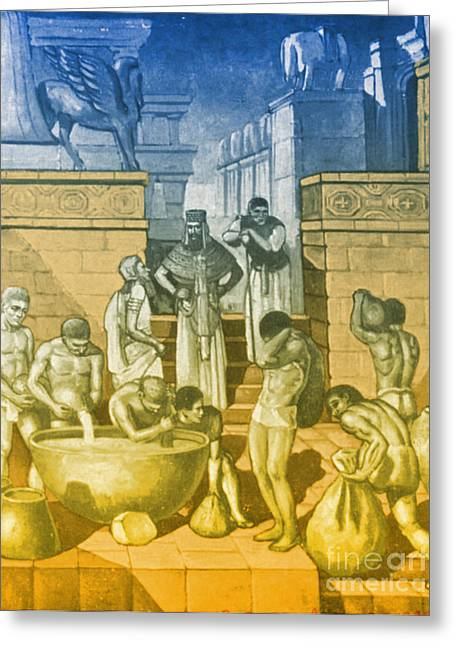 Babylon Photographs Greeting Cards - The Art Of Brewing, Babylon Greeting Card by Science Source