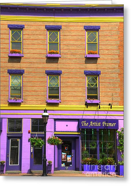 Store Fronts Greeting Cards - The Artist Framer Greeting Card by Paul Ward