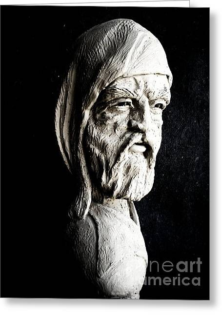 Bust Sculptures Greeting Cards - The Artist Greeting Card by Wayne Niemi