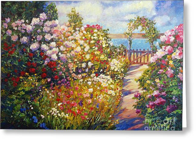 Trellis Paintings Greeting Cards - The Artists Dream Fantasy Greeting Card by David Lloyd Glover