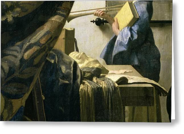 The Artists Studio Greeting Card by Jan Vermeer